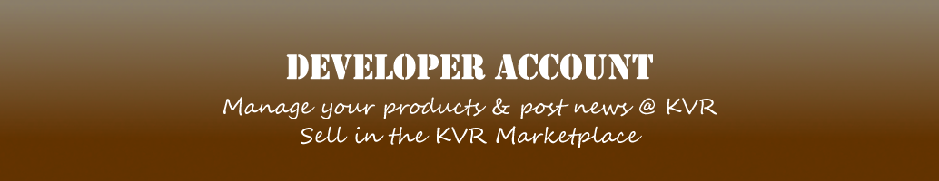 KVR Developer Account Application Header