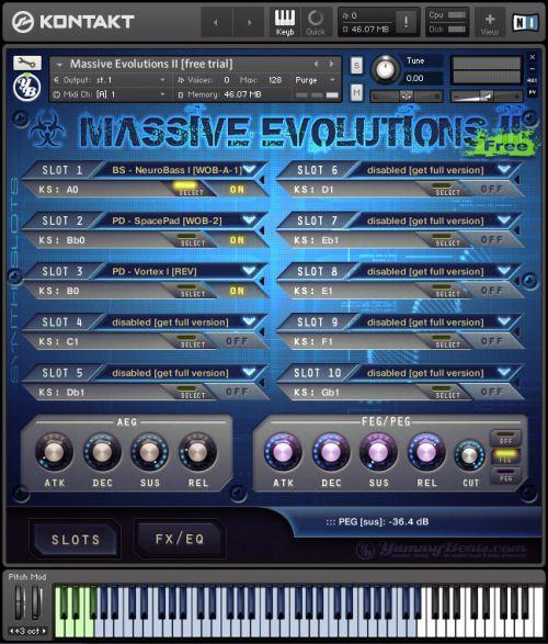 Massive Evolutions II - Free