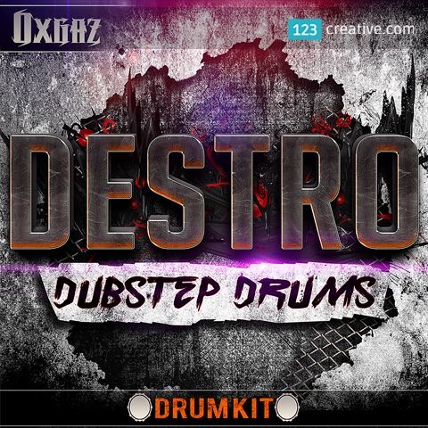 Destro dubstep drum kit samples + Ableton Live 9 project