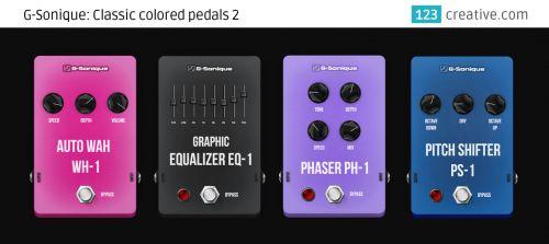 G-Sonique: Classic colored pedals 2: 123creative.com