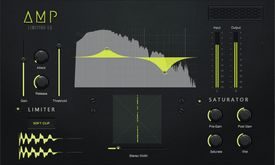 AMP Soft Clipper, EQ and Stereo Shaping Effect