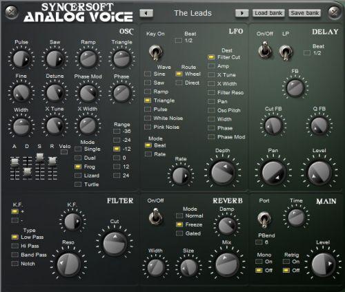 Analog voice