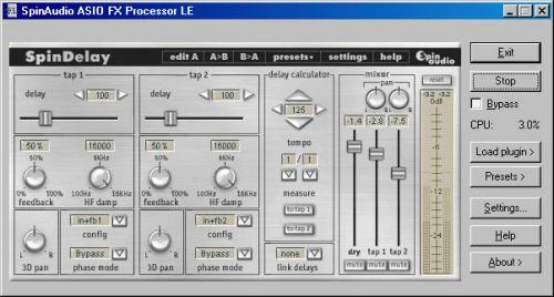 ASIO FX Processor LE