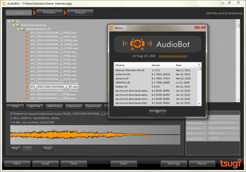 AudioBot Input List