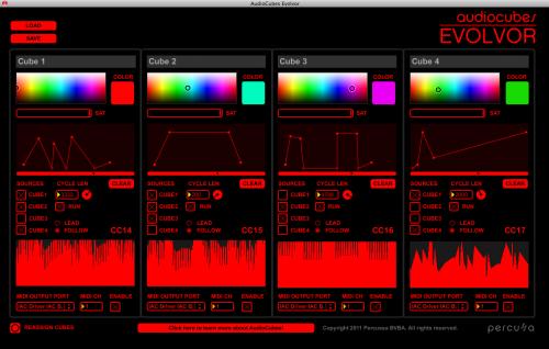 EVOLVOR for Percussa AudioCubes: Generate complex LFO waveforms using the AudioCubes