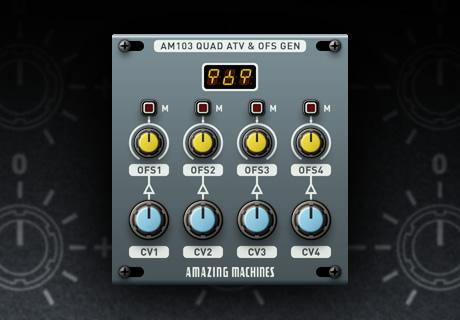 AM103 Quad Attenuverter & Offset Generator