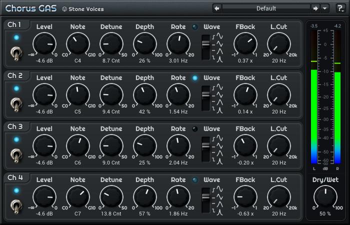 "Free VST-plugin ""Chorus GAS"""