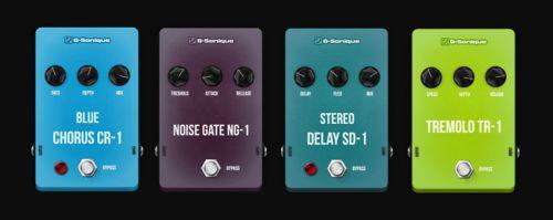 G-Sonique: Classic colored pedals 1