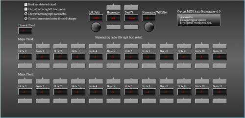 Custom MIDI Auto-Harmonizer