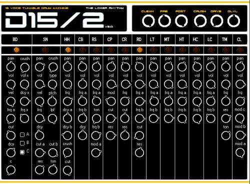 D15/2 Analog Drum Machine