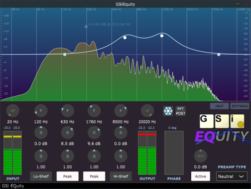 EQuity - Six-band Visual Equalizer