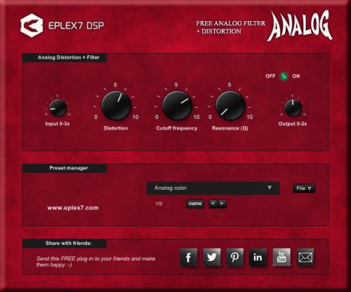 Eplex7 Analog Filter + Analog Distortion
