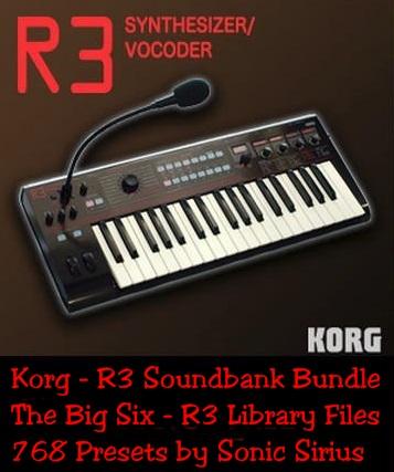 Korg - R3 Synthesizer - The Big Six - Free Soundbank Bundle