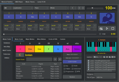 Laras Composition Main Screen