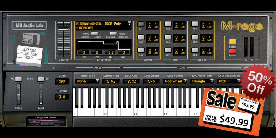 MB Vintage Keyboards M-Rage