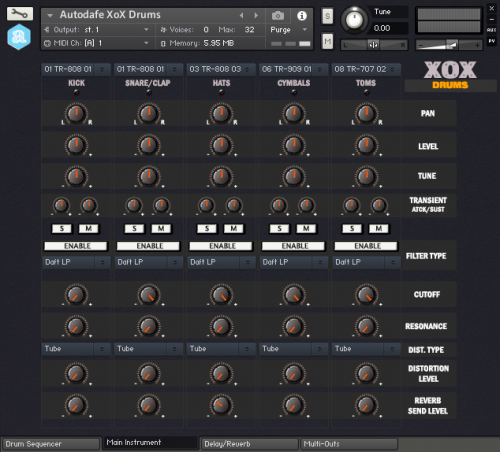 Autodafe XoX Drums for Kontakt