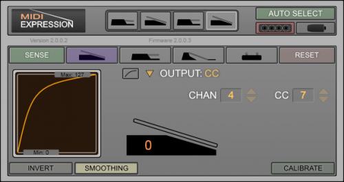 MIDI Expression Control