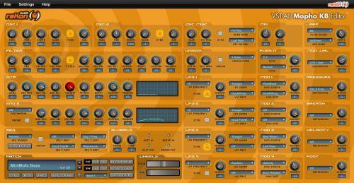 VST-AU Mopho KB Editor