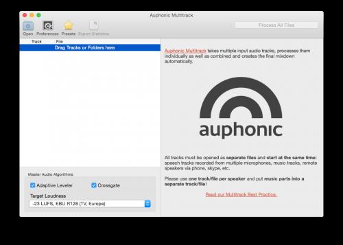 Auphonic Multitrack
