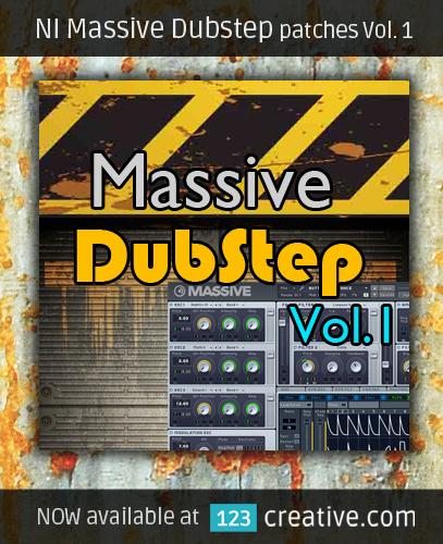 NI Massive Dubstep patches Vol. 1 - 123creative.com