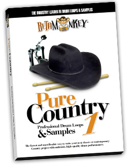 Pure Country I | Country Drum Loops, Rock Country Drum Loops, Samples