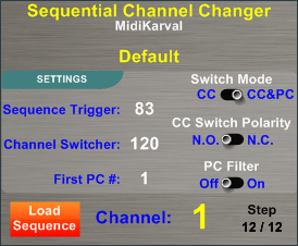Sequential Channel Changer (SCC)