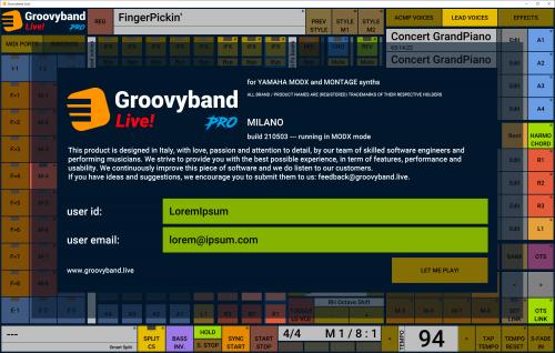 Groovyband Live! for Yamaha MODX/Montage