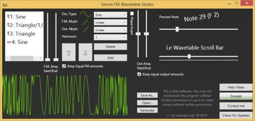 Serum FM Wavetable Studio