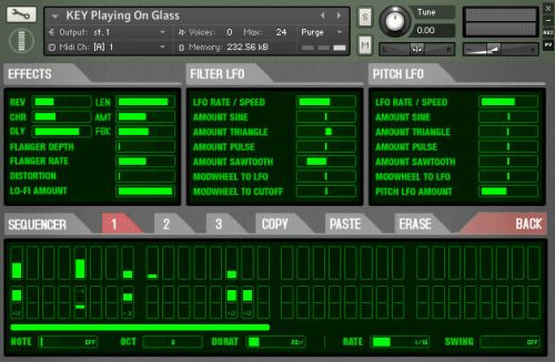 Shortnoise Sequencer View