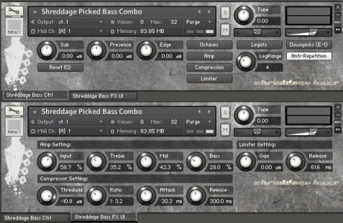 Shreddage Bass: Picked Edition