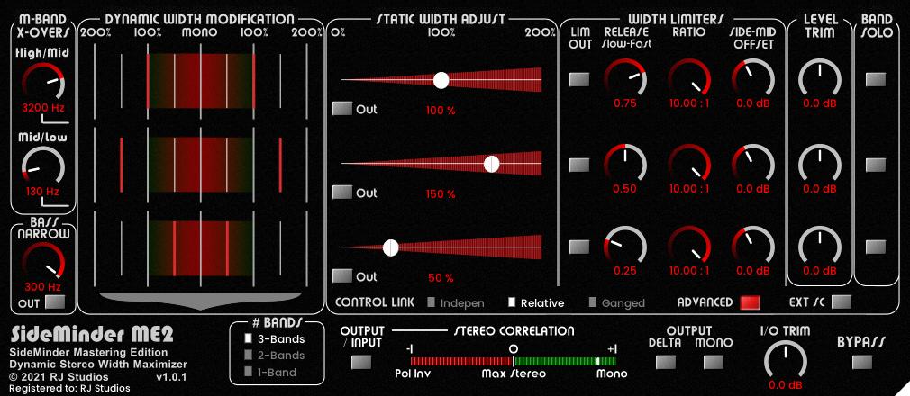 SideMinder ME2 - Multi-band Dynamic Stereo Width Maximizer