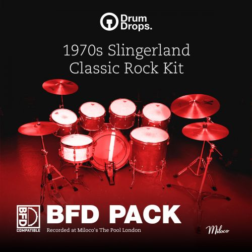 1970s Slingerland Classic Rock Kit - BFD Pack