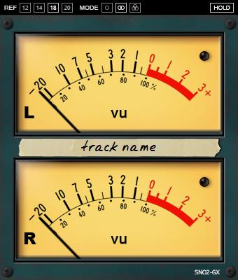 Signal Noise SN02-G VU Meter - large GUI