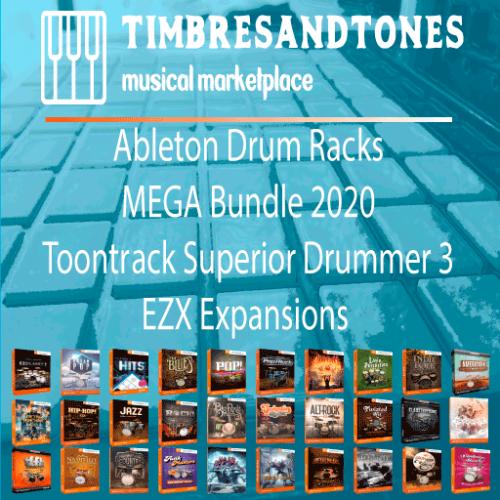 Ableton Drum Racks EZX MEGA Bundle 2020 for Superior Drummer 3