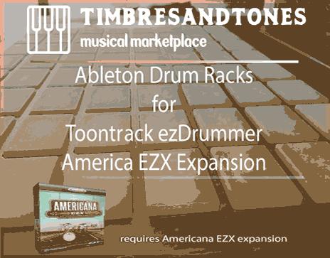 Ableton Drum Racks for ezDrummer Americana EZX