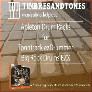 Ableton Drum Racks for ezDrummer Big Rock Drums EZX expansion