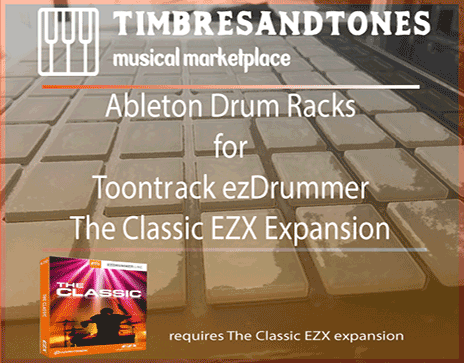 Ableton Drum Racks for ezDrummer Classic EZX