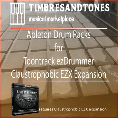 Ableton Drum Racks for ezDrummer Claustrophobic EZX