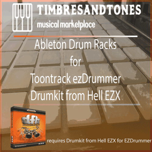 Ableton Drum Racks for ezDrummer Drumkit from Hell EZX expansion