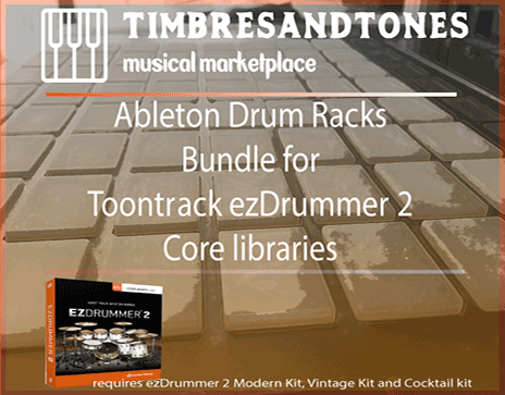Ableton Drum Racks Bundle for ezDrummer 2 core libraries