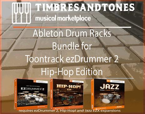 Ableton Drum Racks Bundle for ezDrummer Hip-Hop edition