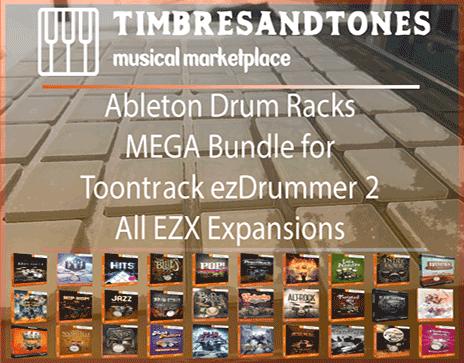 Ableton Drum Racks Mega Bundle for Toontrack ezDrummer