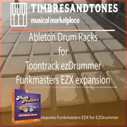 Ableton Drum Racks for ezDrummer Funkmasters EZX