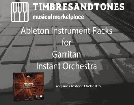 Ableton Instrument Racks for Garritan Instant Orchestra