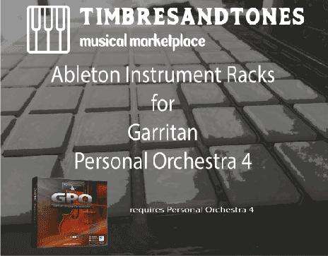 Ableton Instrument Racks for Garritan Personal Orchestra 4