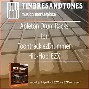 Ableton Drum Racks for ezDrummer Hip-Hop! EZX expansion