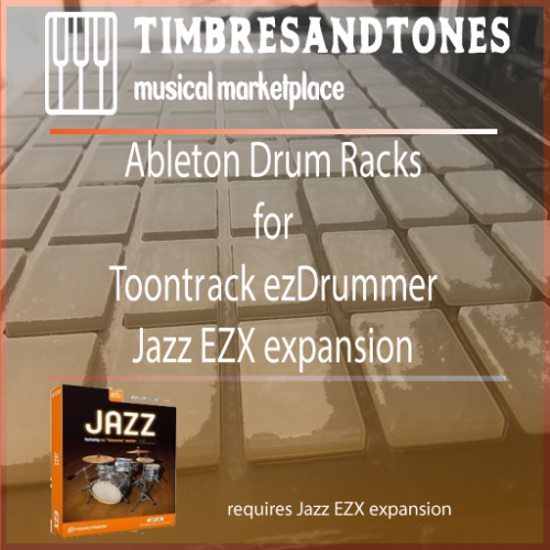 Ableton Drum Racks for ezDrummer Jazz EZX