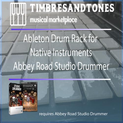 Ableton Drum Racks for Native Instruments Abbey Road Studio Drummer