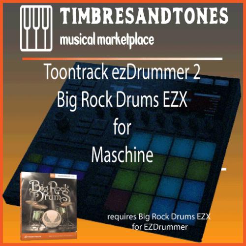 ezDrummer 2 Big Rock Drums EZX for Maschine