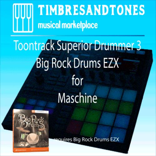 Superior Drummer 3 Big Rock Drums EZX for Maschine